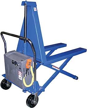 Transport and Lift Material to an Ergonomic Work Height with a High #LiftSkidLifter / Tote Lifter