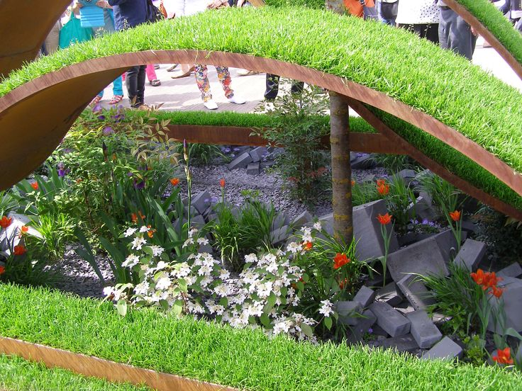 RHS Chelsea Flower Show 2016 London The World Vision Garden Designed by John Warland Built by Garden Builders Sponsored by World Vision #waves #grass #perennials