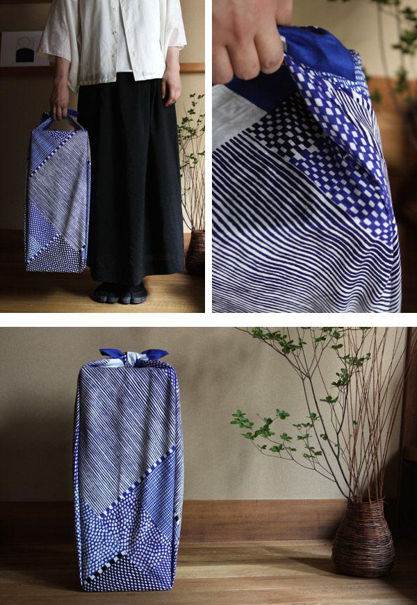風呂敷(大) 間がさね 青和 - SOU・SOU netshop (ソウソウ) - 『新しい日本文化の創造』をコンセプトにオリジナルテキスタイルを作成し、地下足袋やSOU・SOU流の和装、手ぬぐい・袋もの・家具等を製作、販売する京都のブランド、SOU・SOU(ソウ・ソウ)です。