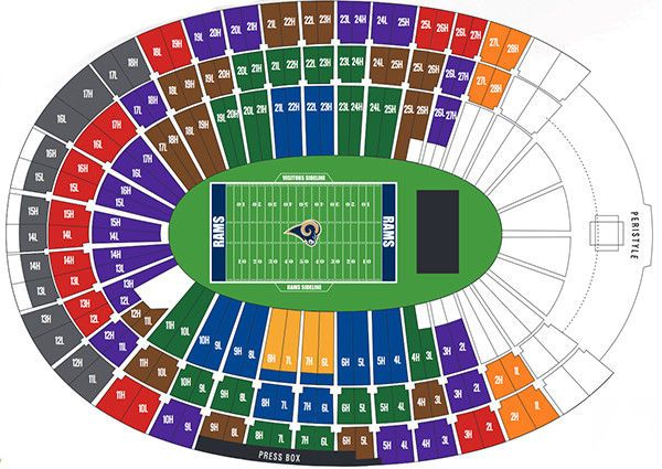 Pin By Carleton On Sports Seating Chart In 2020 Seating Charts The Incredibles La Rams