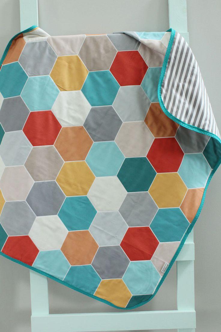 best  modern toddler beds ideas on pinterest  contemporary  - baby quilt geometric hexagon hipster blanket petunias crib nursery decorbaby shower gift newborn photo prop mod modern toddler bedding