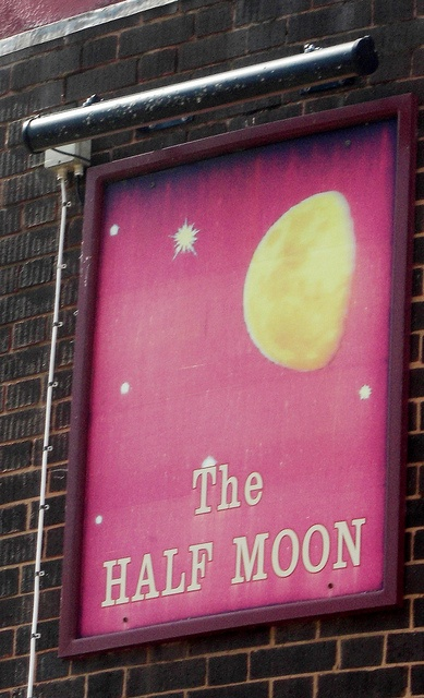 The Half Moon Pub sign Tiverton Devon, England