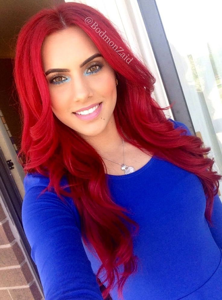 beautiful bright red hair dye