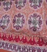 Batik Fabric Motif Pancaniti Banten Orange Traditional Batik People