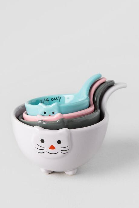 Ceramic Cat Measuring Cups $16.00