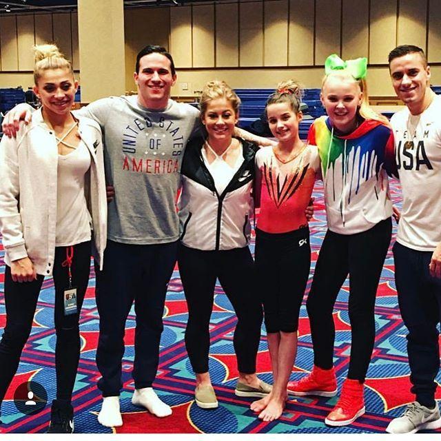 We'd like to thank these guys for coming out to the 1st ever #BratayleyGreatDestinations Gymnastics Meet!  @_ashtonlocklear @alex_naddour @shawnjohnson @presshandstands @itsjojosiwa @jake_dalton