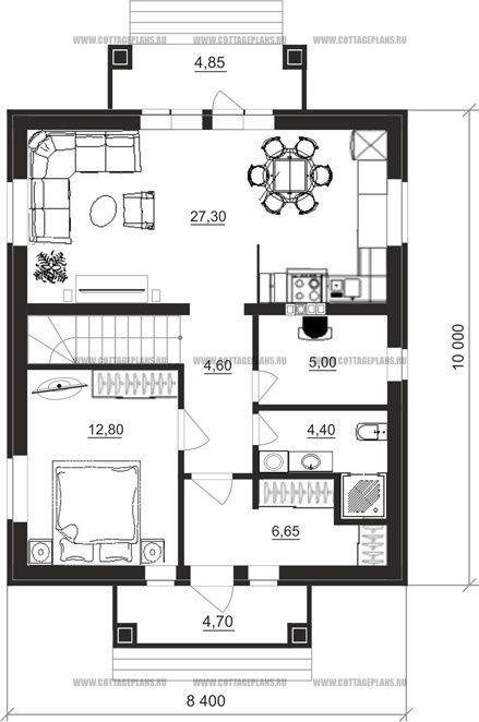 Поэтажные планы проект дома 14-93 общ. площадь 120,15 м2