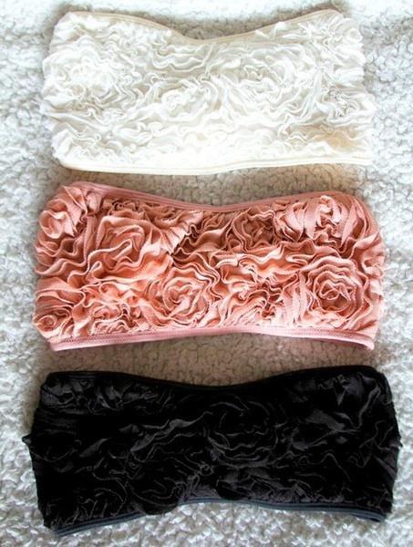 bandeaus: Fashion, Floral Bandeau, Style, Dream Closet, Clothes, Rosette Bandeau, Bandeaus