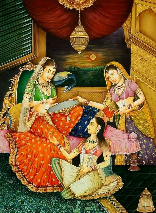 INDIA: Mughal paintings