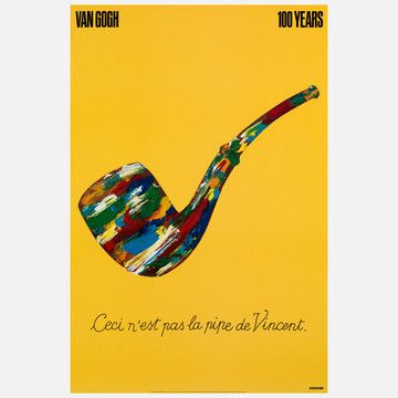 by Milton Glaser on Fab.com: Graphic Design, Vans, Poster, Van Gogh, Gogh 100, Pipe, 100 Years, Milton Glaser