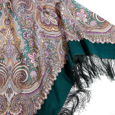 Pavlovo Posad Russian wool shawl. 1000+ shawls here: www.russian-shawls.com