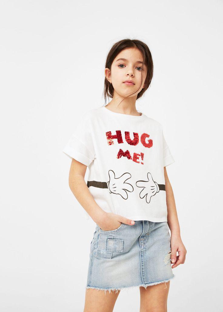 Camiseta lentejuelas mágicas - Niños   MANGO Kids España