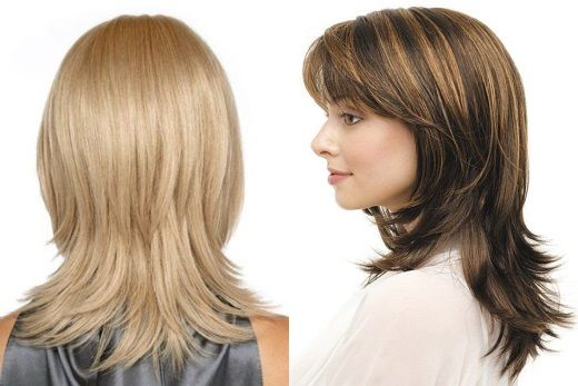 Image result for short hair with bangs and long hair underneath