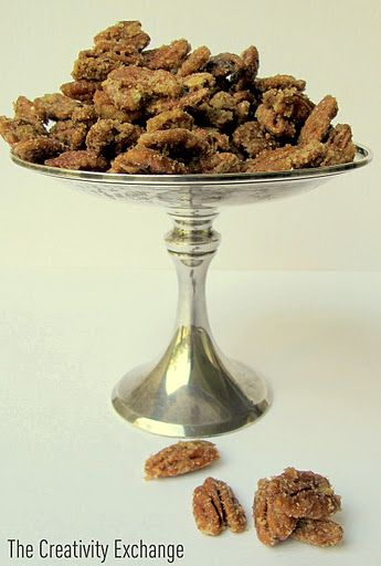 Four ingredients and a microwave make incredible and easy sugared pecans.