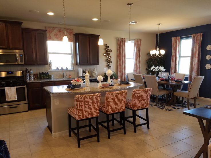 Gourmet style kitchen in a Meadows at Shadow Creek in Buda Texas. New construction starting in the lower 200's.