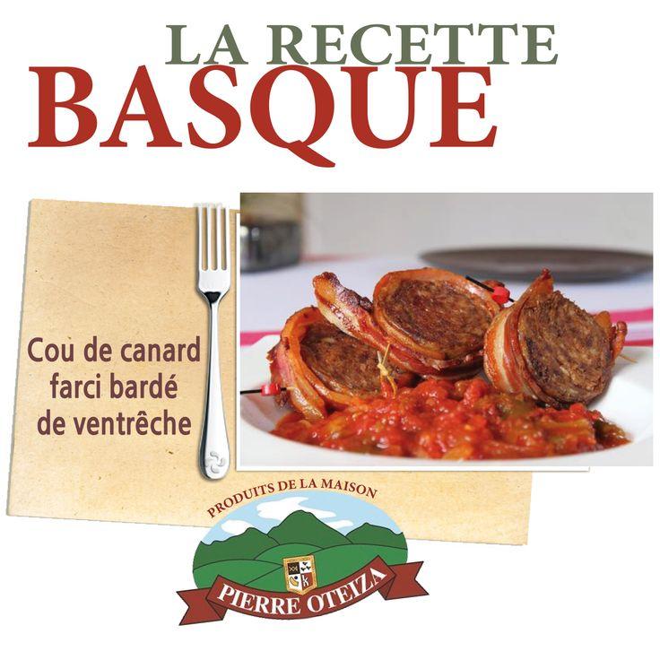 #recette de #famille #PaysBasque #Boutique #PierreOteiza http://www.trinquefougasse.com/blog/article/recette-de-la-famille-oteiza-le-cou-de-canard-farci-barde-de-ventreche.html