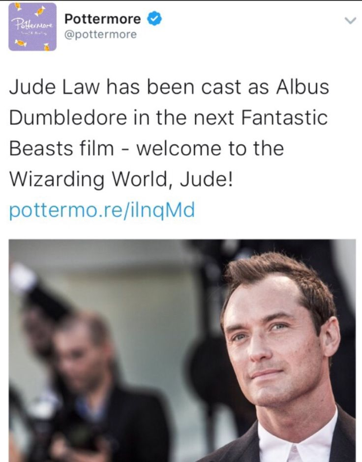 Jude Law has been cast as young Dumbledore in Fantastic Beasts 2