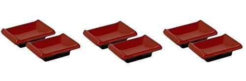 PAOTM Red And Black Asian Sauce Dipping Dishes 3 Sets Of 2  6 >>> This is an Amazon Affiliate link. Continue to the product at the image link.
