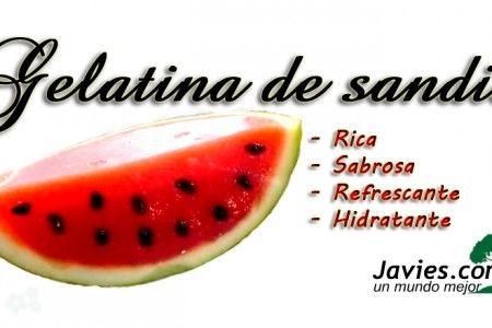 gelatina de sandia