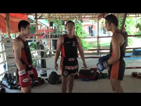 Tiger Muay Thai Techniques: Block/catch body kick and sweep opponent