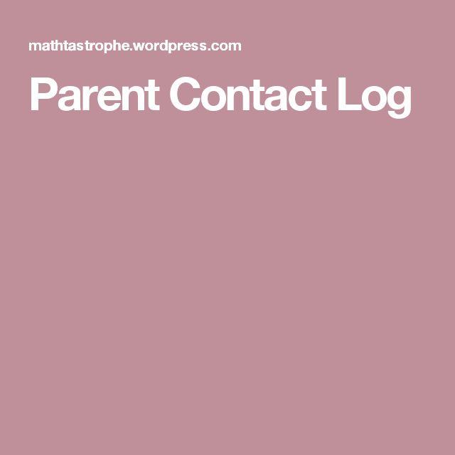 The 25+ best Parent contact log ideas on Pinterest Parent - call log template