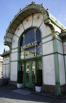 Art Nouveau building, Otto Wagner, Karlsplatz, Vienna/ Austria