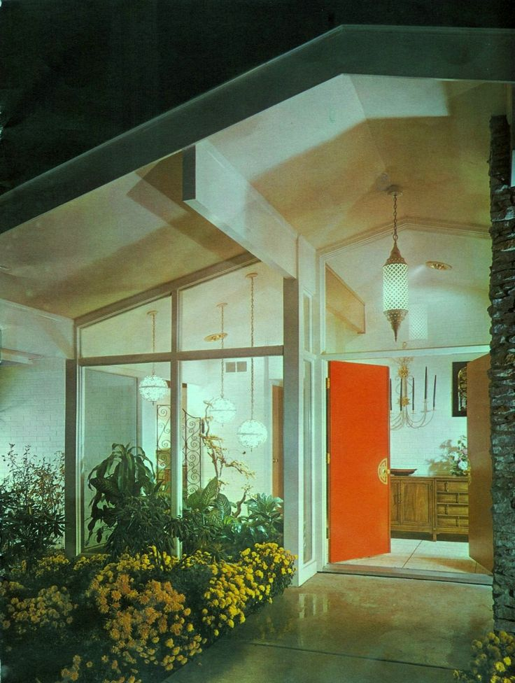 Modern Ranch Entrance Scholz Home 1960 Westfield