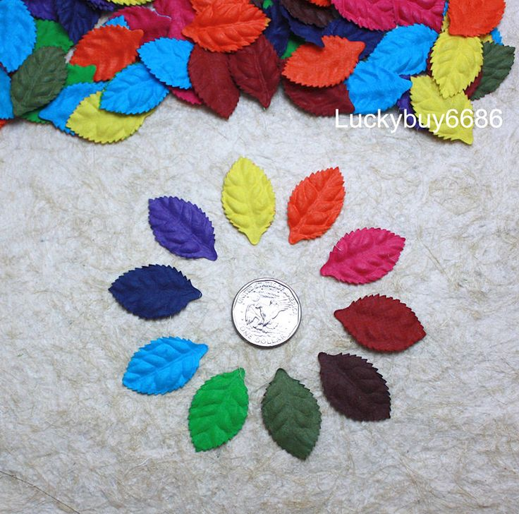 100 Hot Color Leaves Rose Mulberry Paper Scrapbook Craft Wedding Card Artificial | eBay
