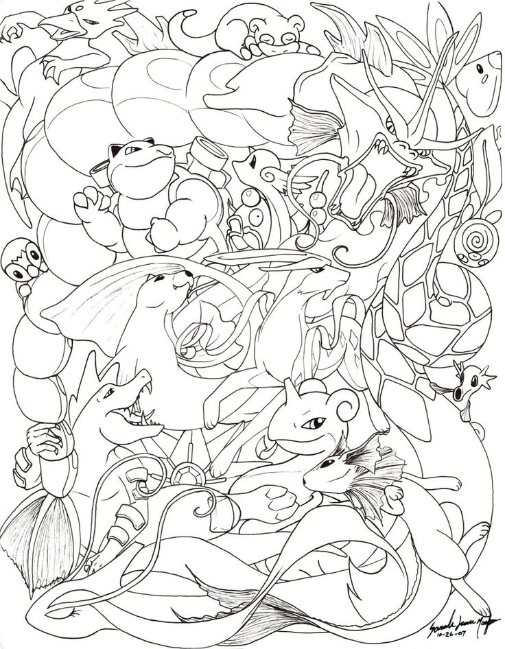 Water Pokemon Line By Therainedrop Deviantart Com On Deviantart Pokemon Coloring Book