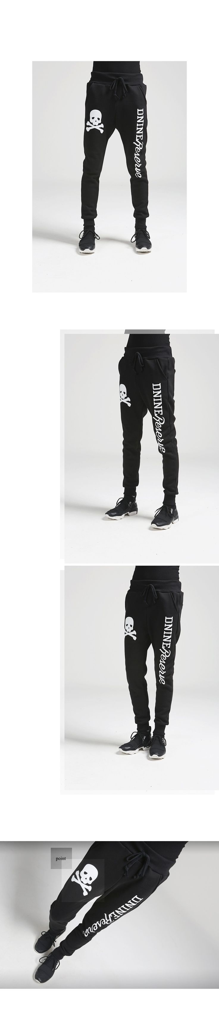 K-POP Men's Fashion Style Store [TOMSYTLE] Skull Cross Trainers PT / Size : M,L / Price : 43.48 USD #dailylook #dailyfashion #casuallook #bottom #pants #trainingpants #unique #TOMSTYLE #OOTD http://en.tomstyle.net/