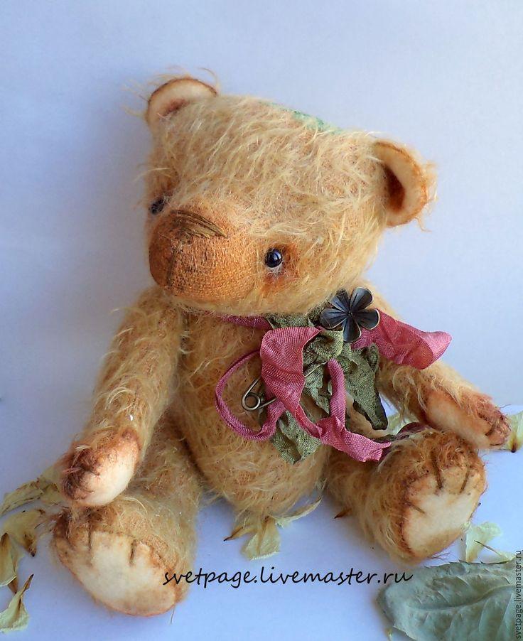 Купить Мишка Летний / тедди - оранжевый, коллекционные игрушки, коллекционные медведи, коллекционный мишка