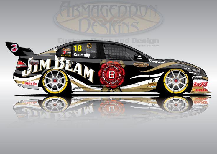 jim beam race car