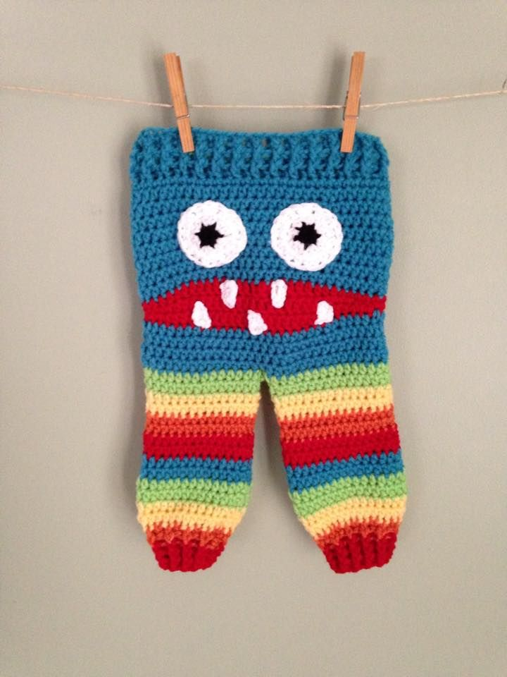 Crochet Pattern Baby Monster Pants : 32 best images about Monster pants on Pinterest Free ...