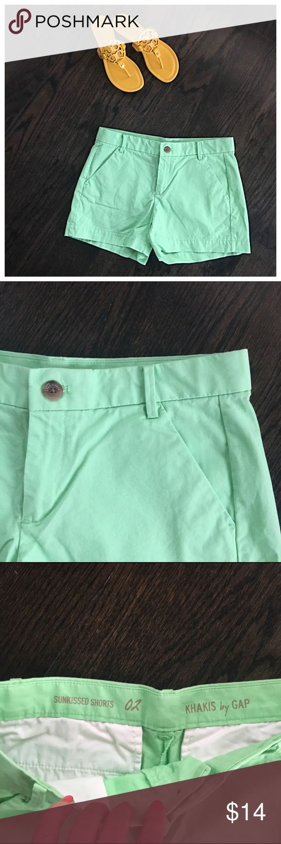 Gap Mint Green Shorts Gap sun kissed shorts in mint green. Size 2. Only worn once or twice. Like new condition. GAP Shorts