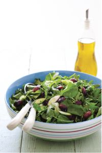 Spring Arugula & Watercress Salad with Grapes and Fresh Lime Dressing
