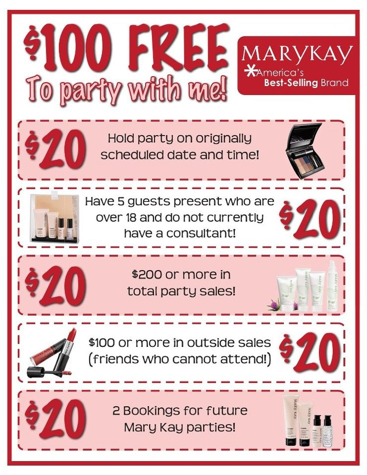 $100 in free Mary Kay!  Great way to earn Free Marykay!!!!  www.marykay.com/tsierzenga