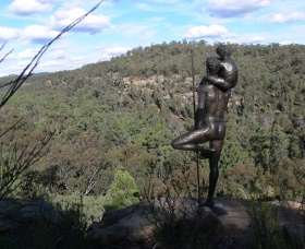Warrumbungle Region  - sculptures in the scrub Dandry Gorge, in the heart of the Pilliga Forest, north of Coonabarabran. This one is by Brett Garling - I am eager to see this