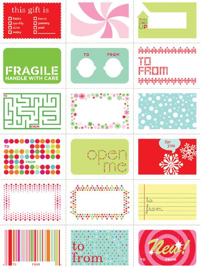 free labels & tags printable