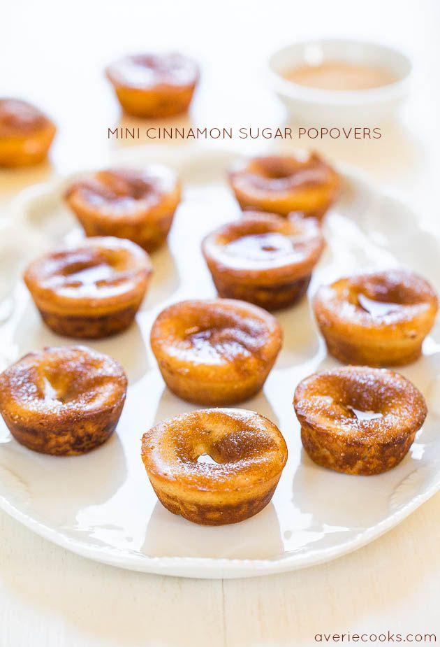 Mini Cinnamon Sugar Popovers