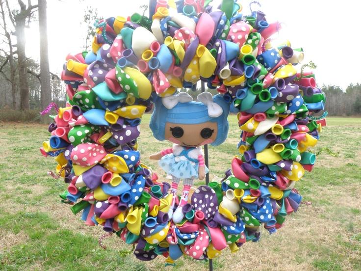 Balloon Birthday Wreath 18 inches. $50.00, via Etsy.