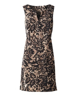 Another print sheath - I like it!  I can braid my crazy old lady hair and look civilized in this. 8-)#Sheath Dress