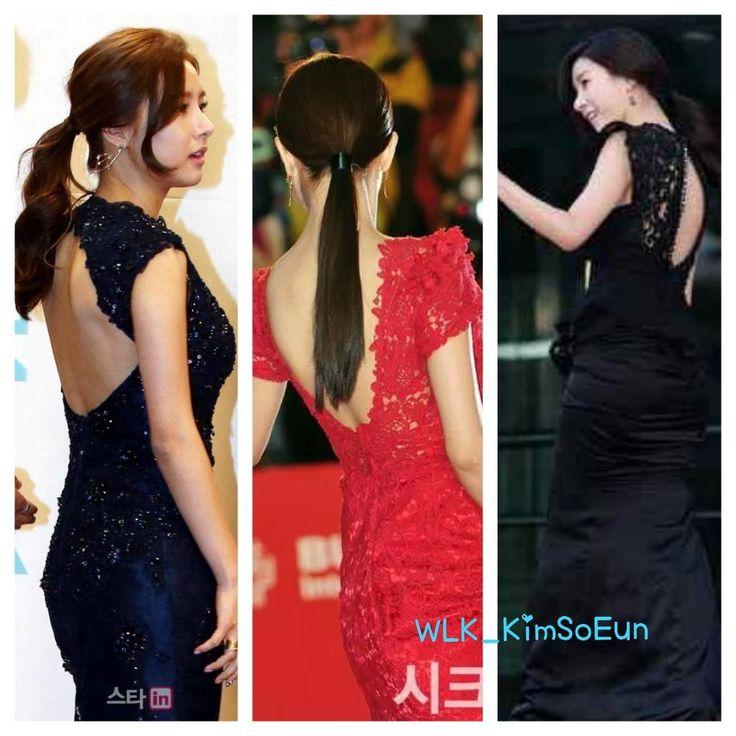 Kim So Eun's dress type  Really suit on her ! #김소은