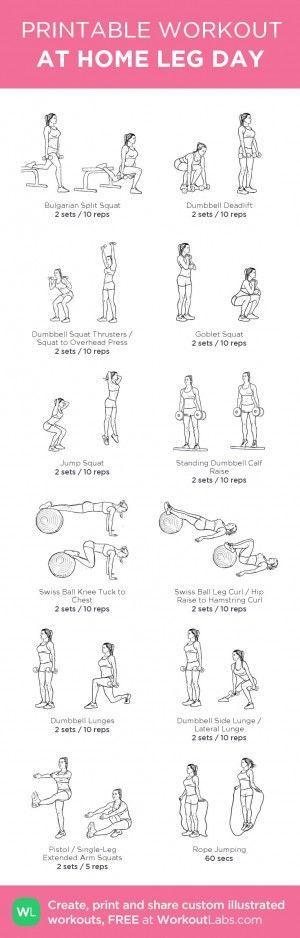 At Home Leg workout