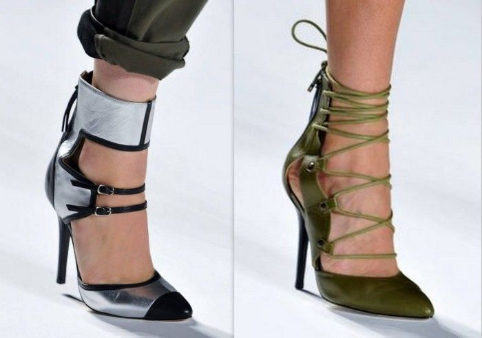 LOVE heels that make a statement. Ankle straps may be my favorite shoe trend of Spring 2014