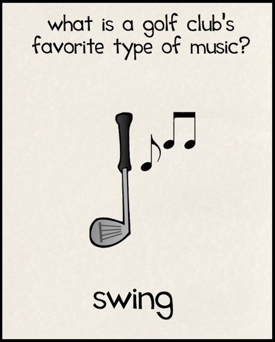 What is a golf club's favorite type of music? SWING! Ha ha ha! More funny golf thoughts at #lorisgolfshoppe