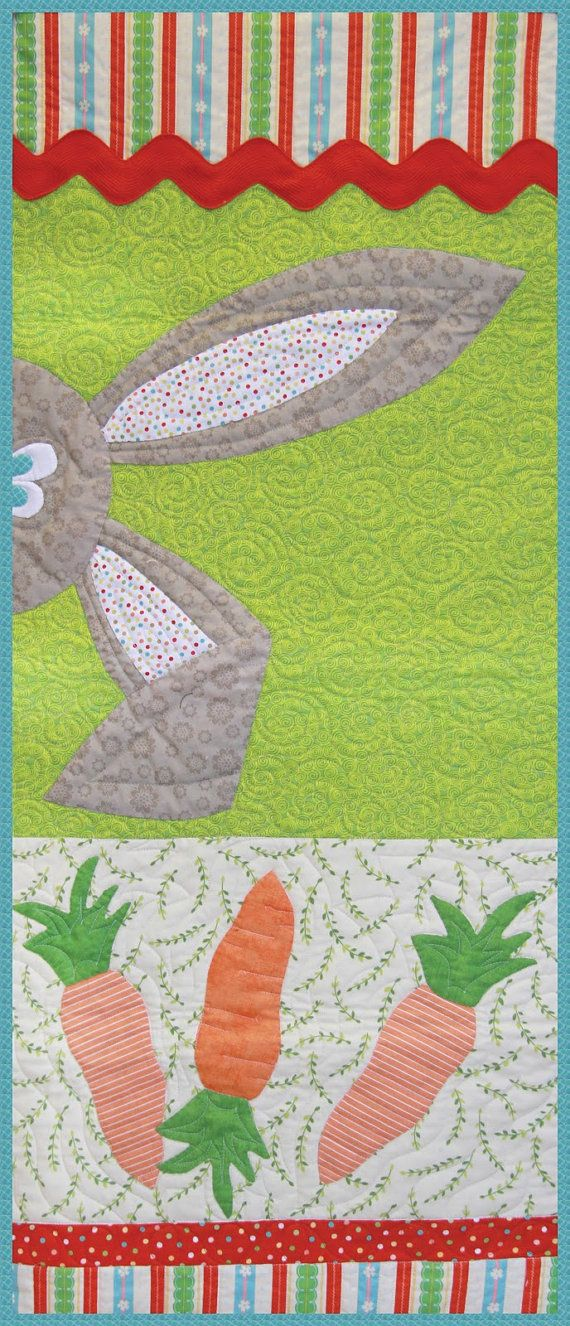 PeekaBoo Easter Bunny Table Runner MY LAZY by JaneSmithCreates, $12.95