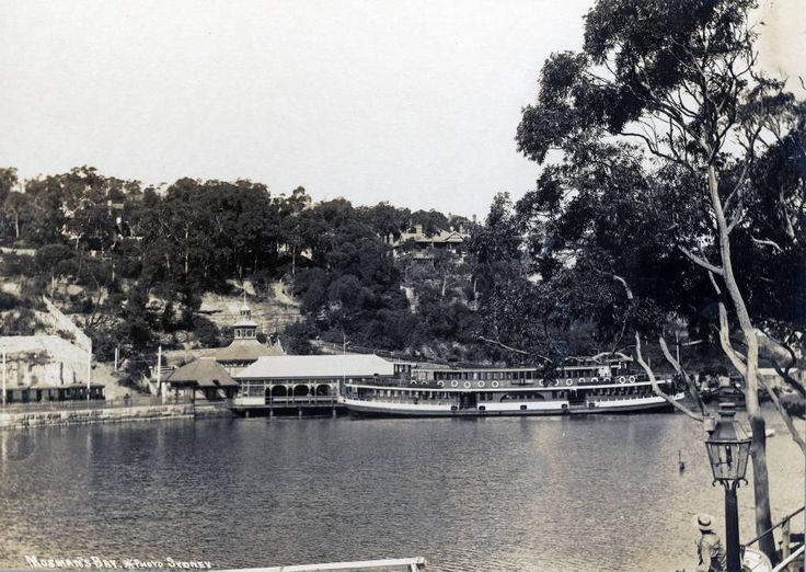 Ferry and Mosman Wharf 1920s.