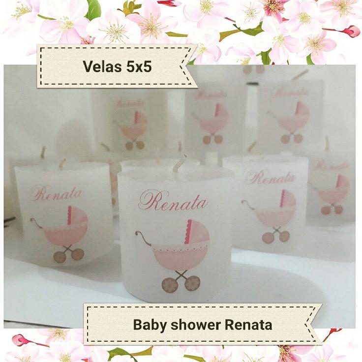 Velas personalizadas. #babyshower #nena #pimpollitovelas