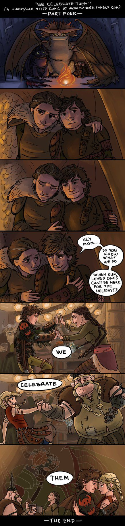 Part Four of a funny/sad HTTYD comic by axondrive on deviantART. People who have seen Gift of the Night Fury will especially appreciate this.