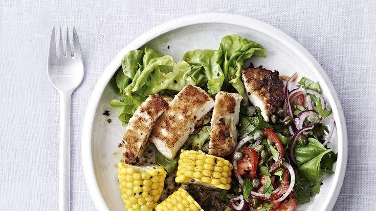 Sennepspanerede kyllingebryster med majs - BO BEDRE